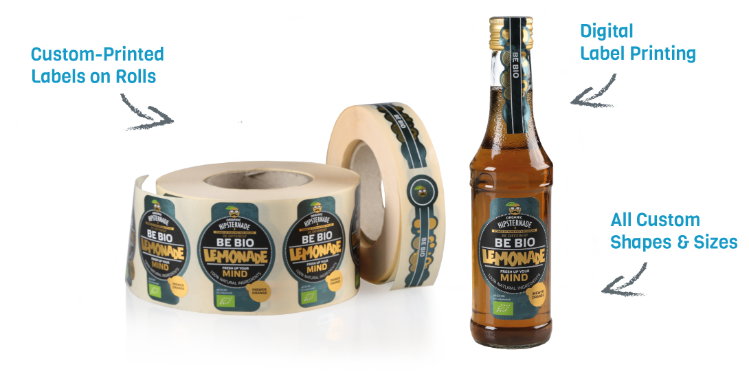 Custom labels on rolls for brands and businesses