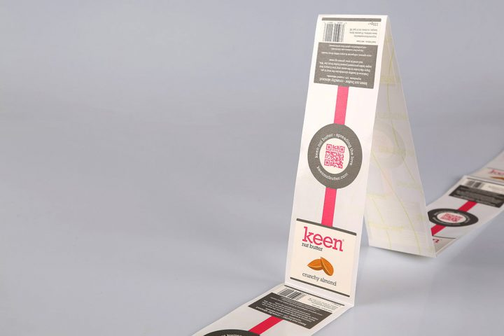 custom-printed food labels on rolls