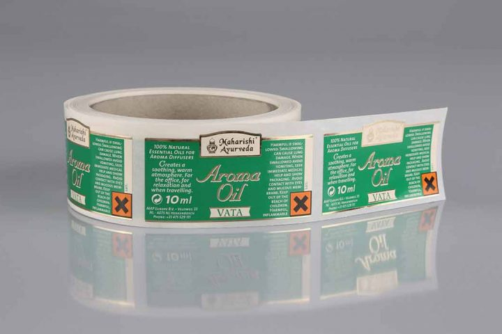 roll labels with hot foil stamping