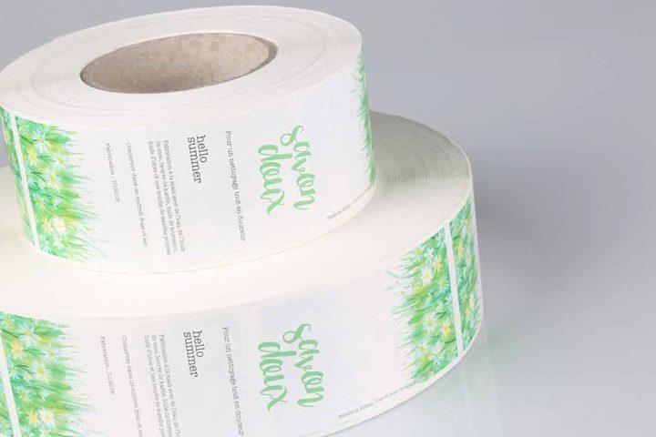 Custom printed stickers on rolls